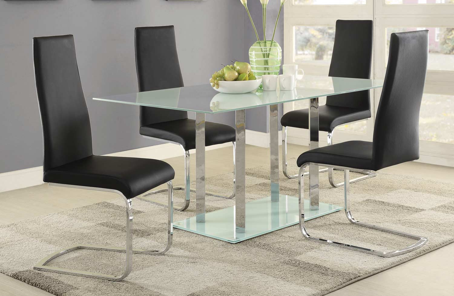 Coaster Geneva Dining Set - Chrome