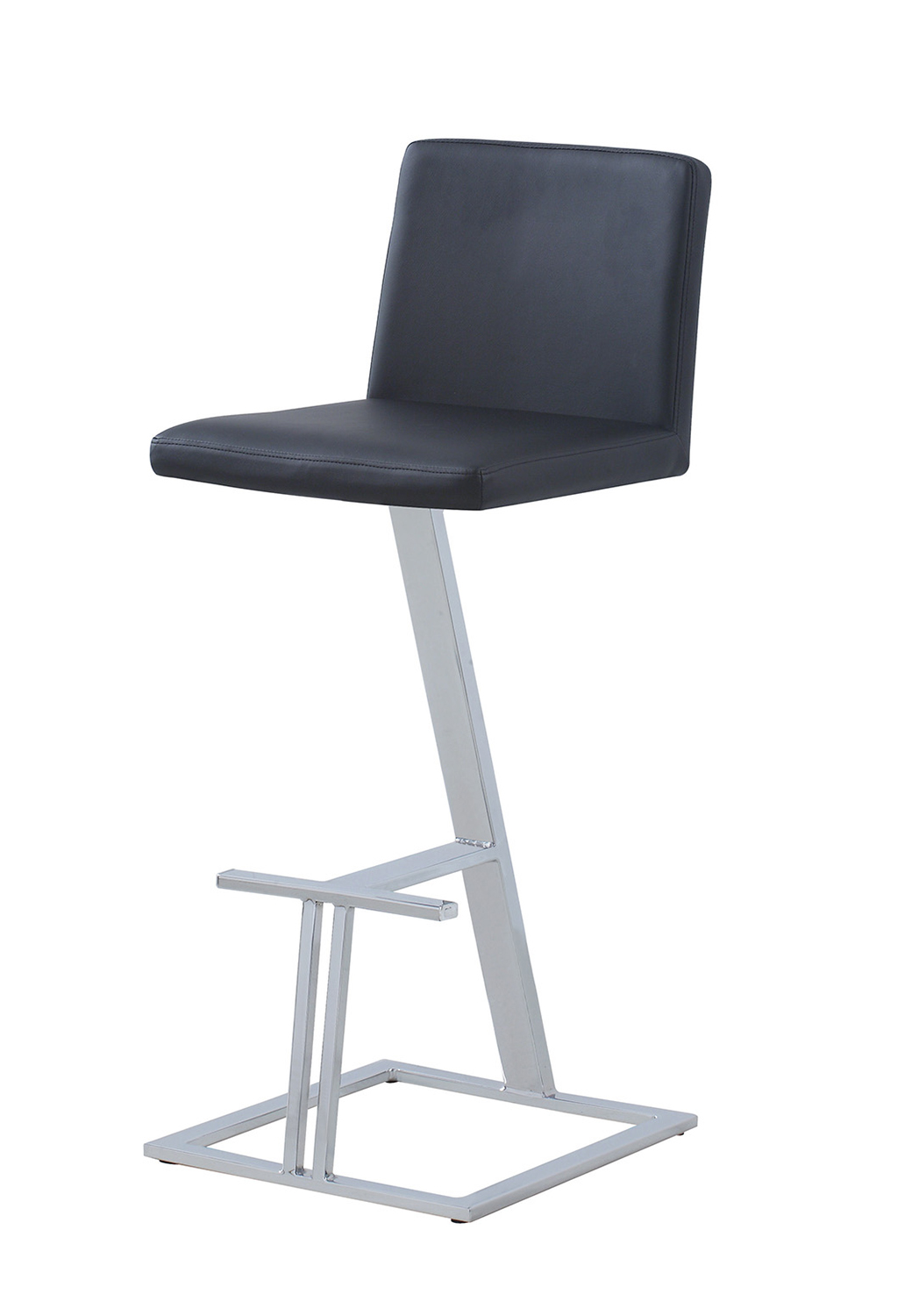 Coaster 104878 Bar Stool - Black/Chrome