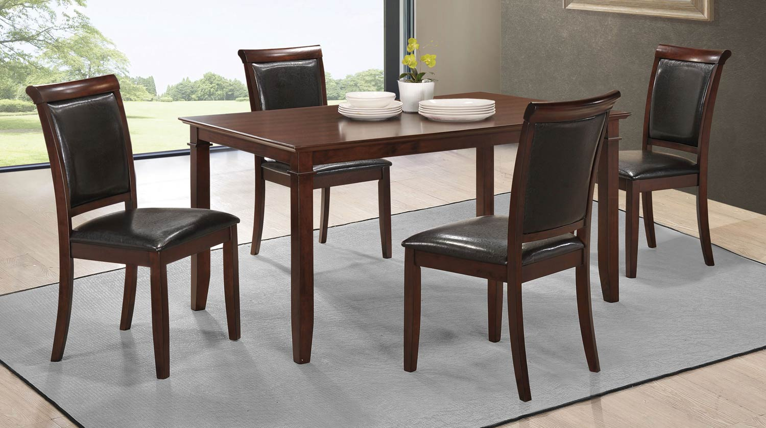 Coaster Benton Dining Collection - Dark Cherry