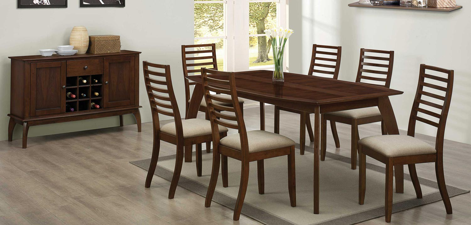 Coaster Stanley Dining Set - Cappuccino