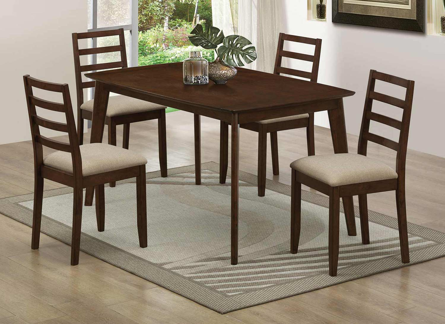 Coaster Mulligan Dining Collection - Medium Brown