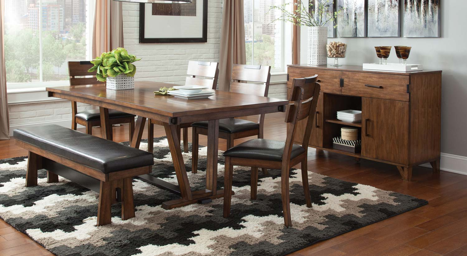 Coaster Avalon Dining Collection - Dark Amber - Coffee Bean