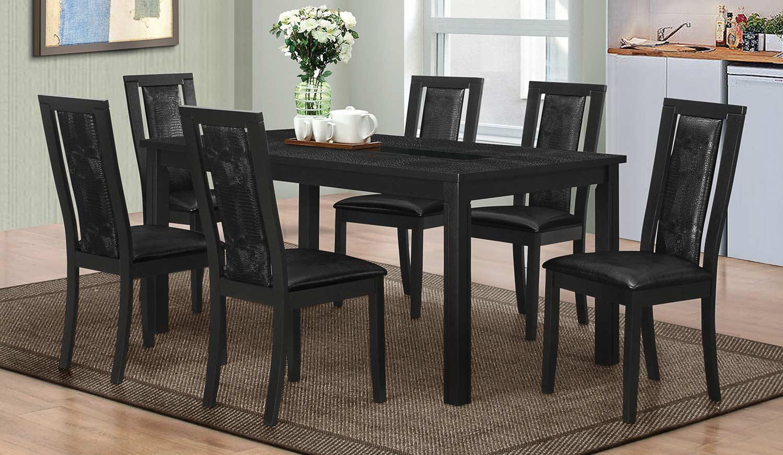 Coaster Plano Dining Set - Black