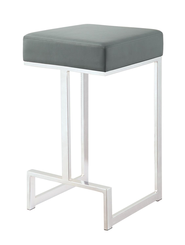Coaster 105252 Counter Stool - Chrome/Grey