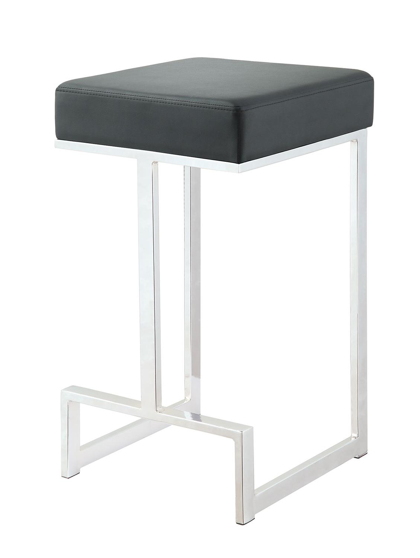 Coaster 105253 Counter Stool - Chrome/Black
