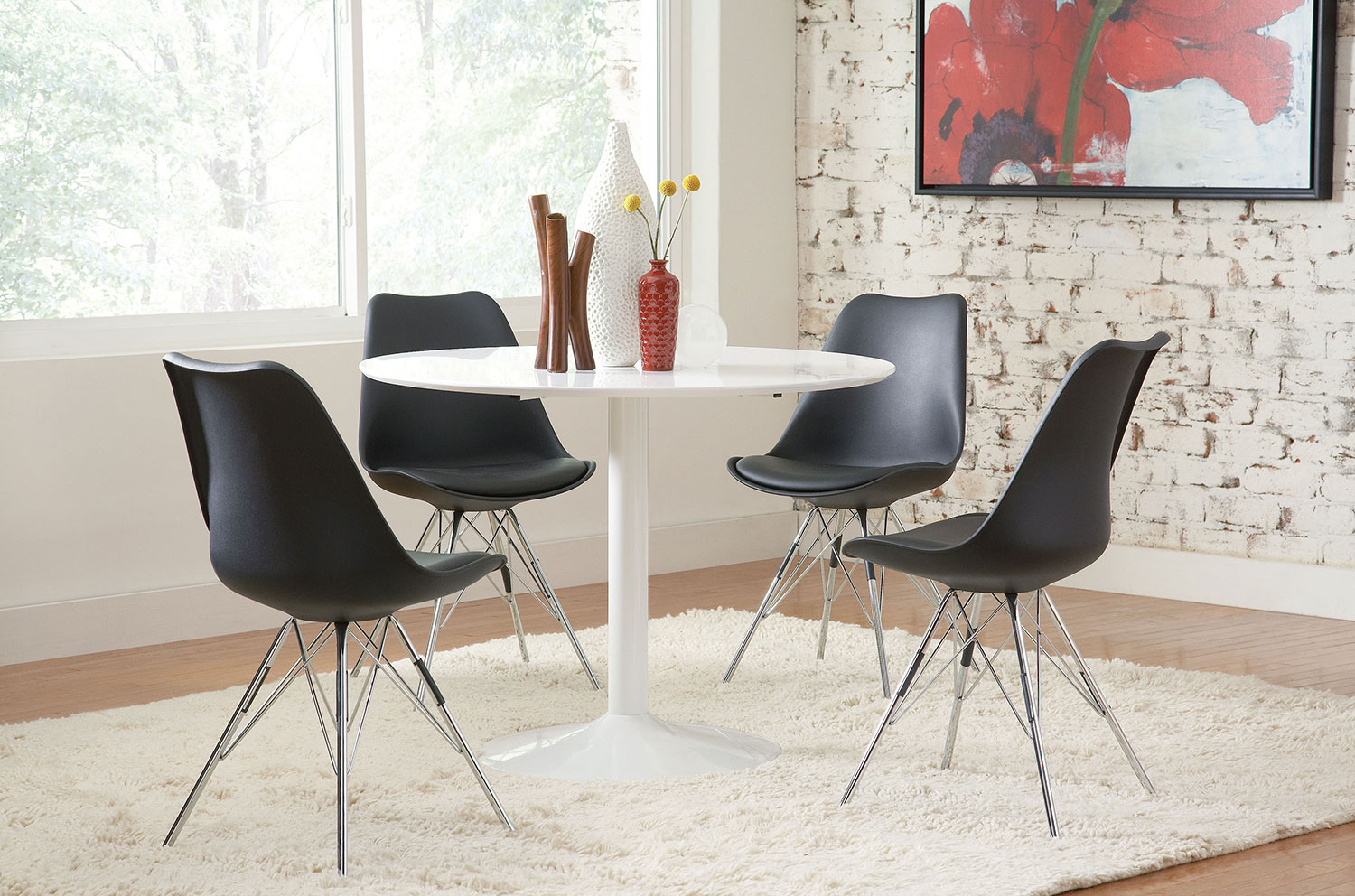 Coaster Lowry Round Dining Set