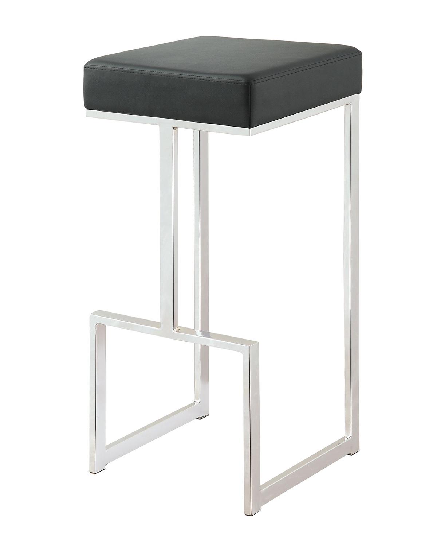 Coaster 105263 Bar Stool - Chrome/Black