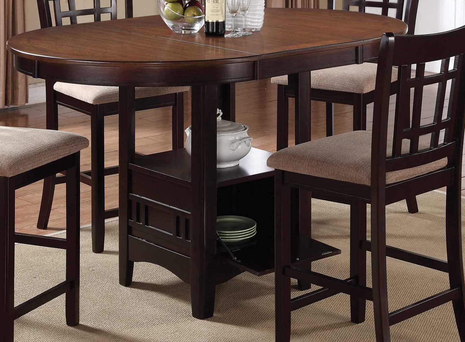 Dining Table Light Height: Coaster Lavon Counter Height Dining Set
