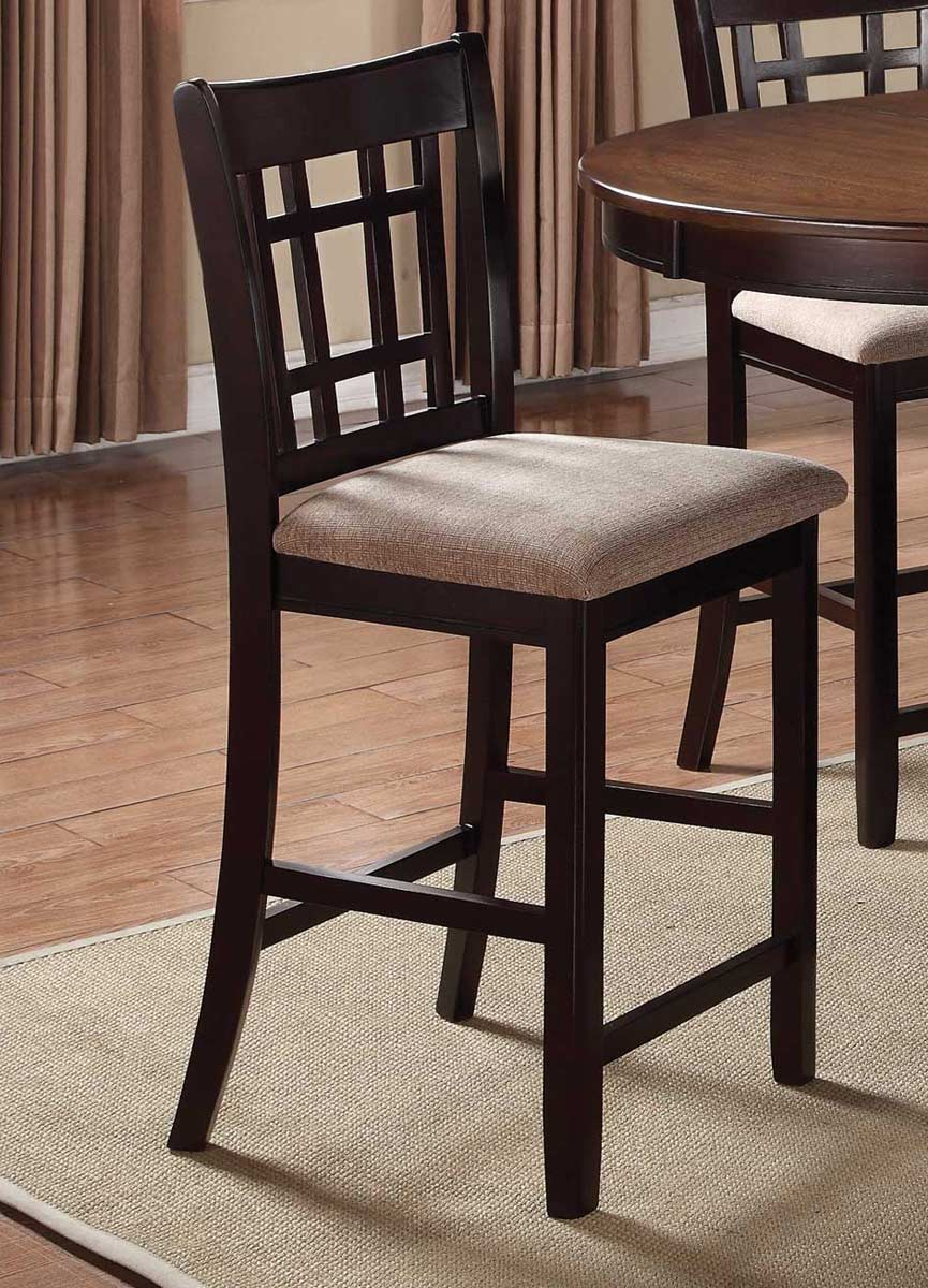 Coaster Lavon Counter Height Stool Light Chestnut Espresso