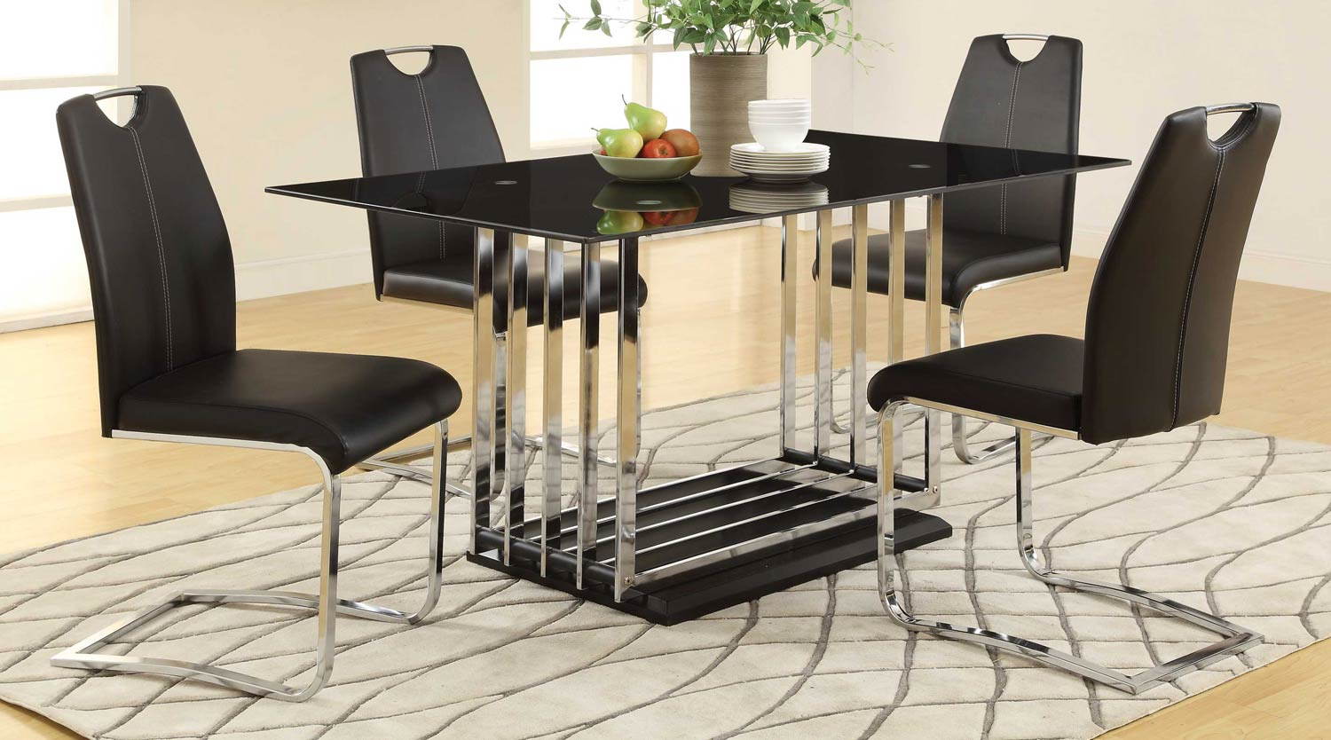 Coaster Ethan 105302 Dining Set - Black