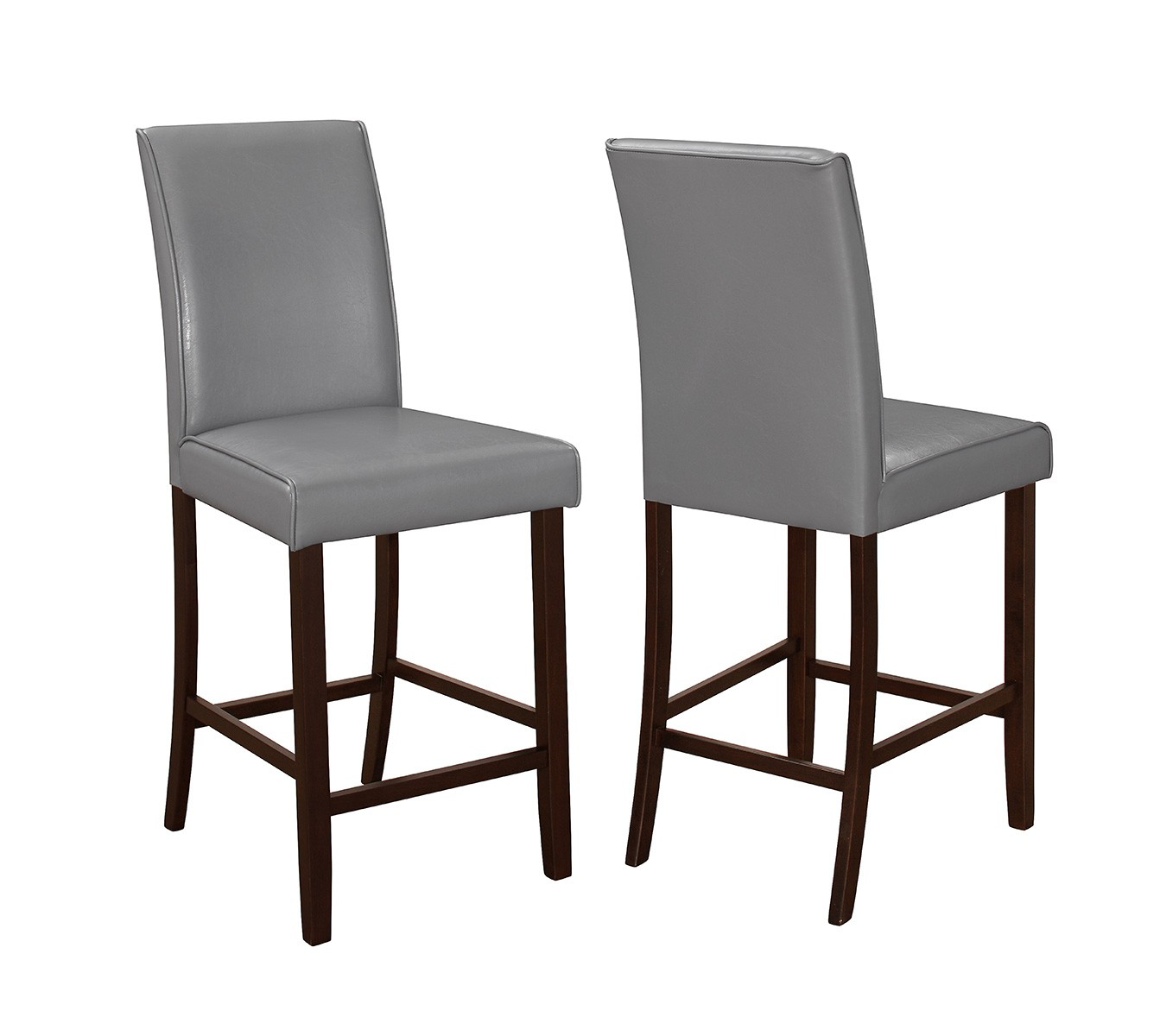 Counter Height Espresso Chairs : Coaster Fattori Counter Height Chair - Espresso/Grey Leatherette ...