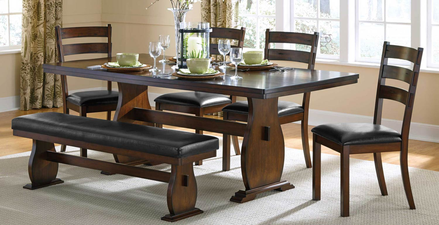Coaster Campbell Dining Set - Vintage Cinnamon