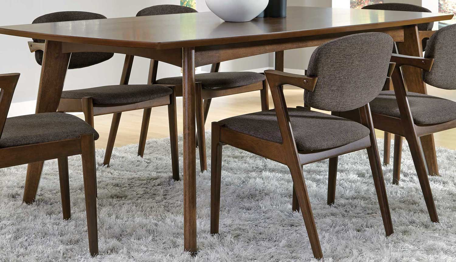Coaster Malone Dining Table Dark Walnut