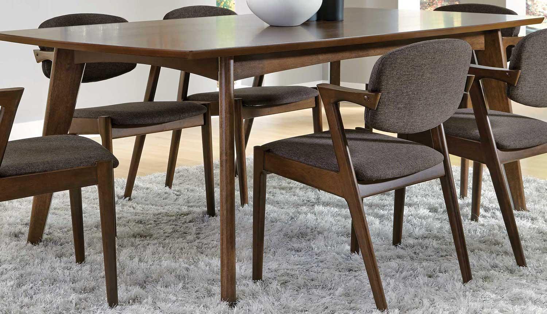 coaster malone dining table dark walnut 105351. Black Bedroom Furniture Sets. Home Design Ideas
