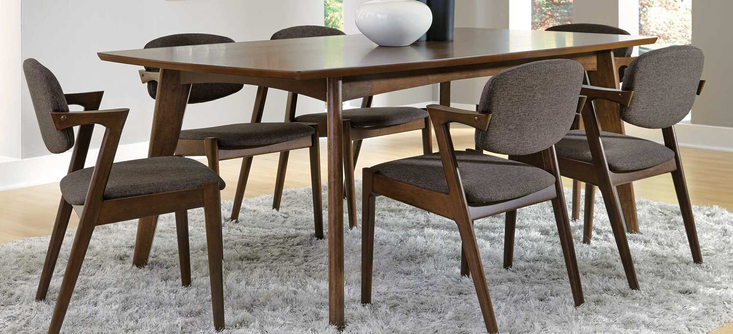 Coaster Malone 105351 Dining Set - Dark Walnut