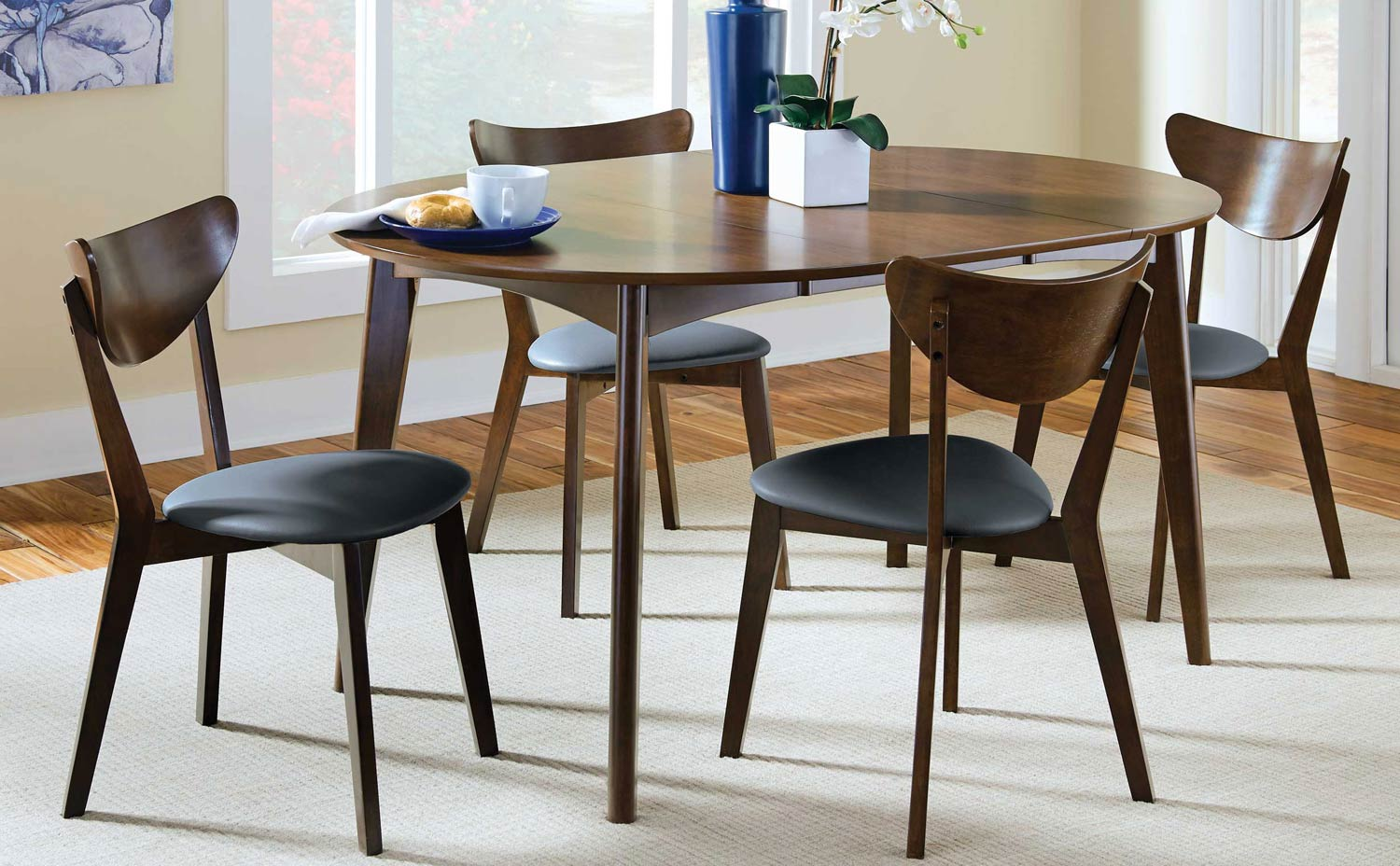 Coaster Malone Dining Set - Dark Walnut
