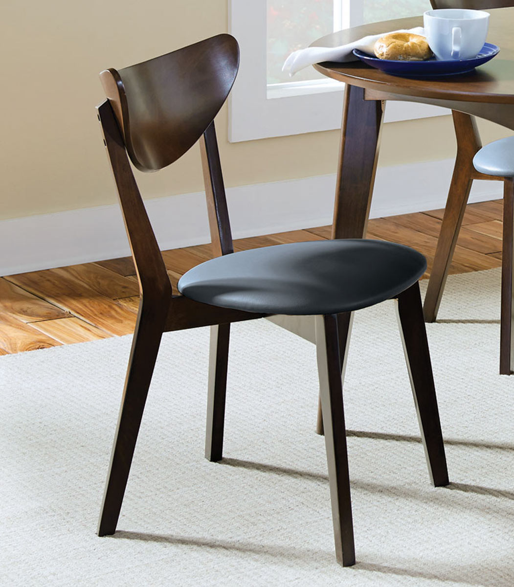 Coaster Malone Side Chair - Dark Walnut