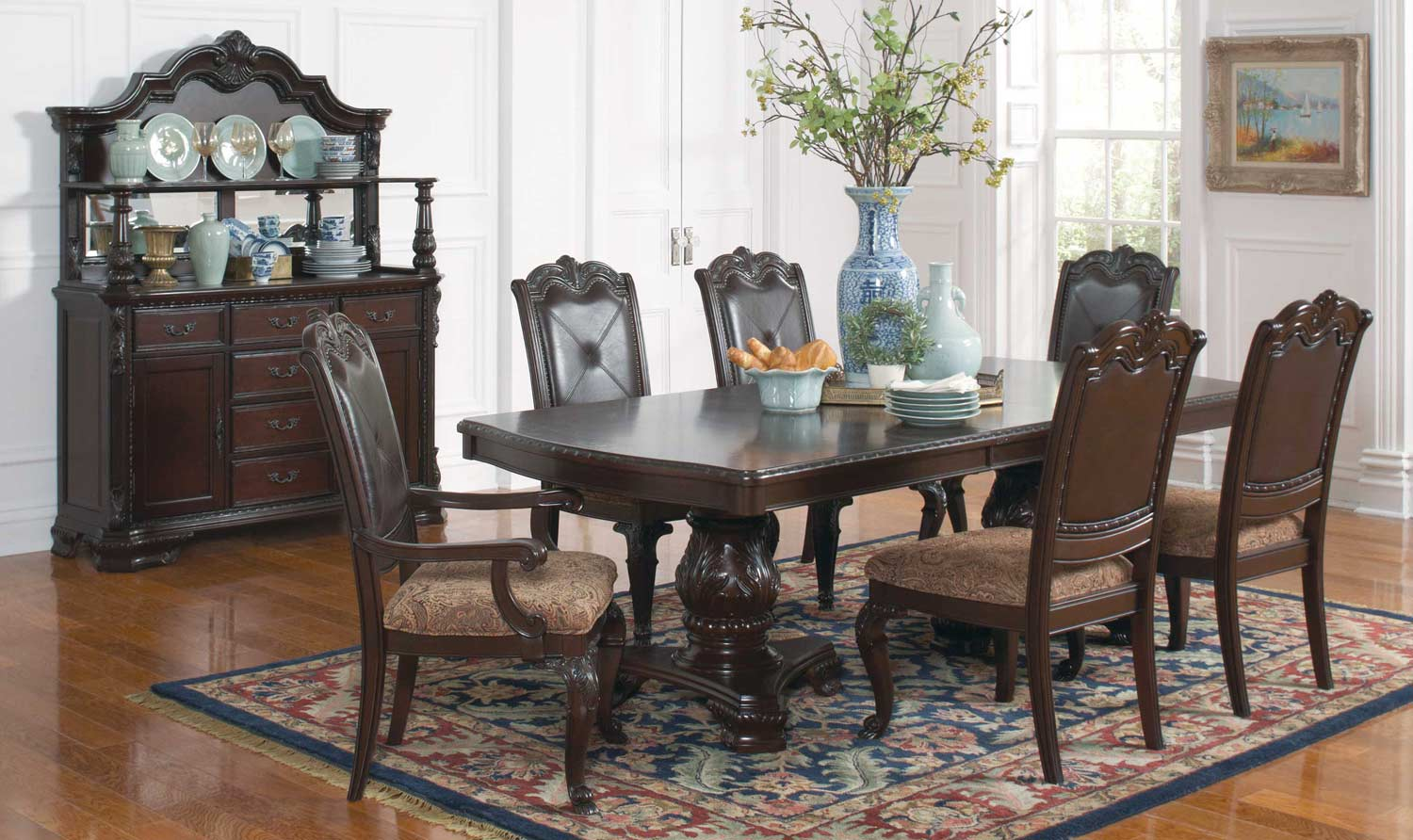 Coaster Valentina Dining Set - Brown Red