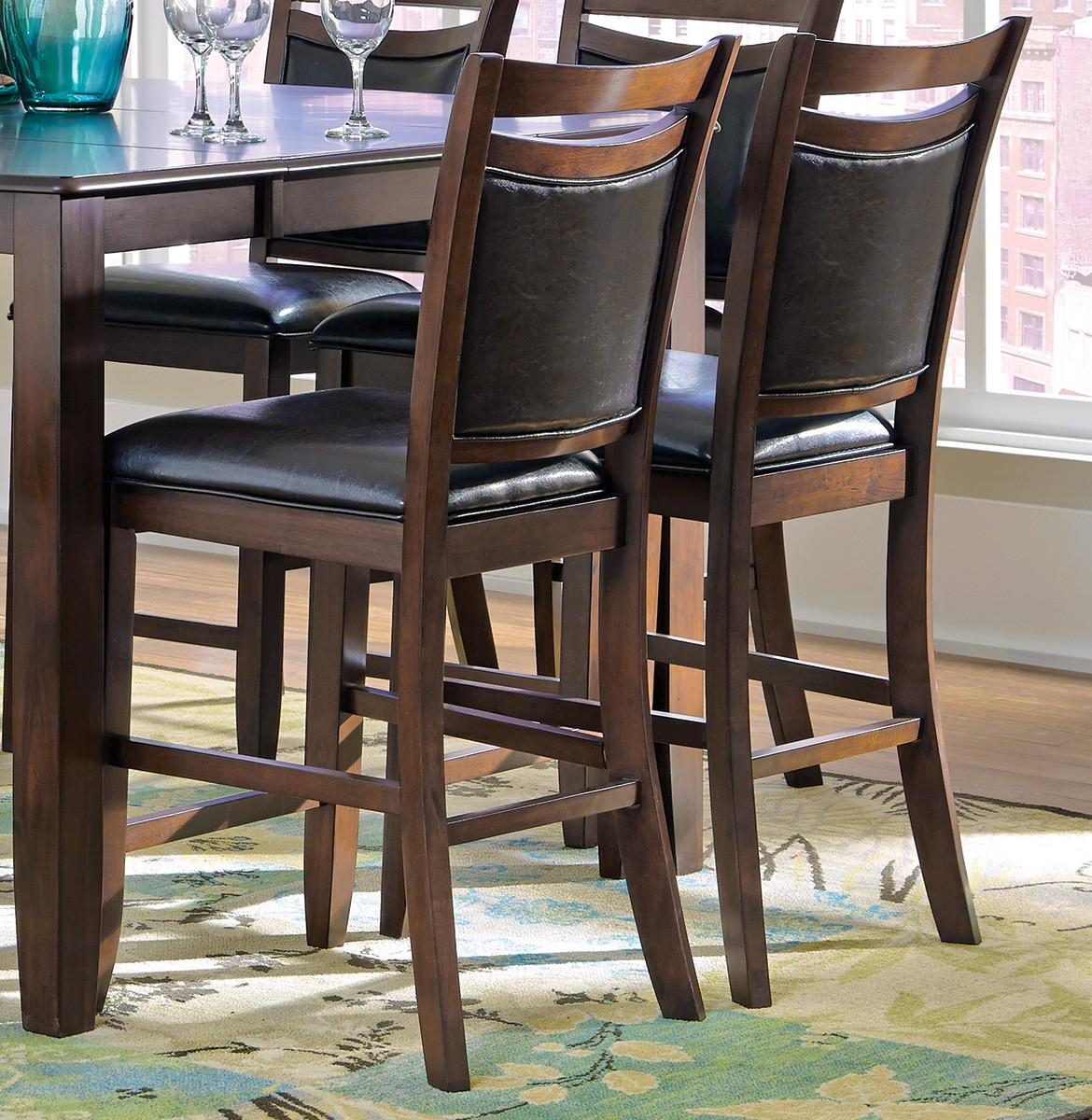 Coaster Dupree Counter Height Chair - Dark Brown