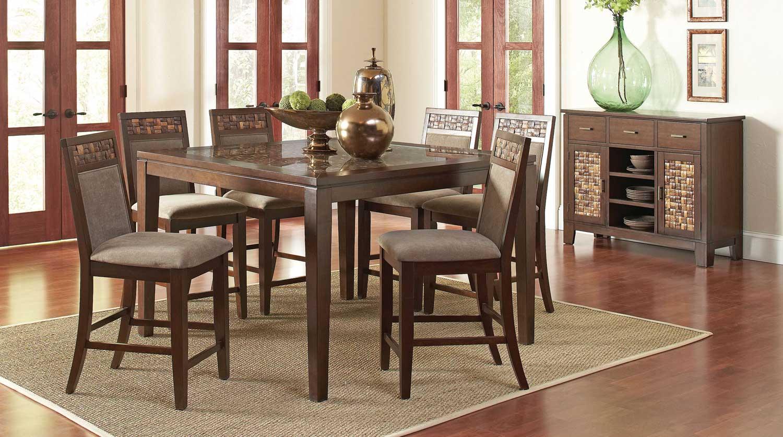 Coaster Trinidad Dining Set - Medium Brown