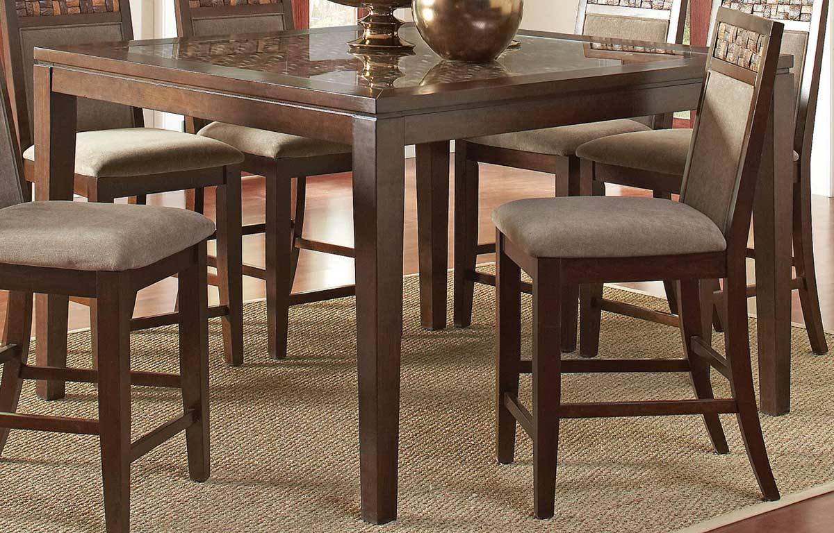 Marvelous photograph of CO 105498 Coaster Trinidad Counter Height Table Medium Brown 54L x  with #8D573E color and 1200x768 pixels