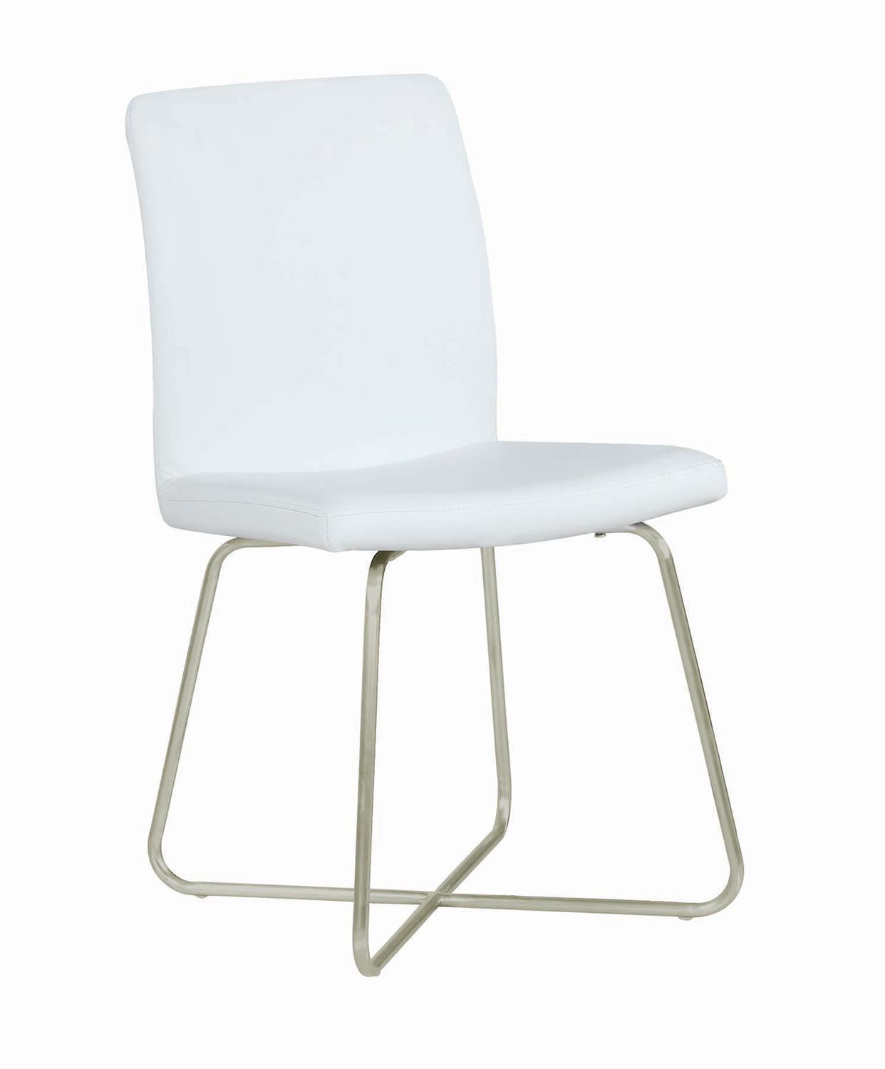 Coaster Michonne Dining Side Chair - White Leatherette