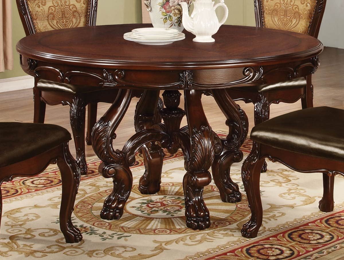 coaster benbrook round dining table dark cherry 105510 at. Black Bedroom Furniture Sets. Home Design Ideas
