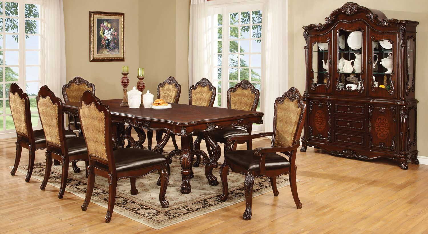 Coaster Benbrook Dining Set - Dark Cherry