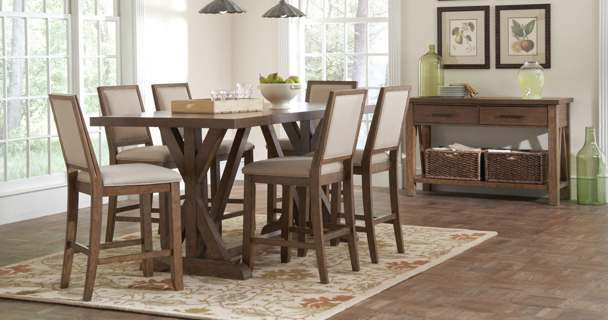 Coaster Bridgeport Dining Set - Weathered Acacia