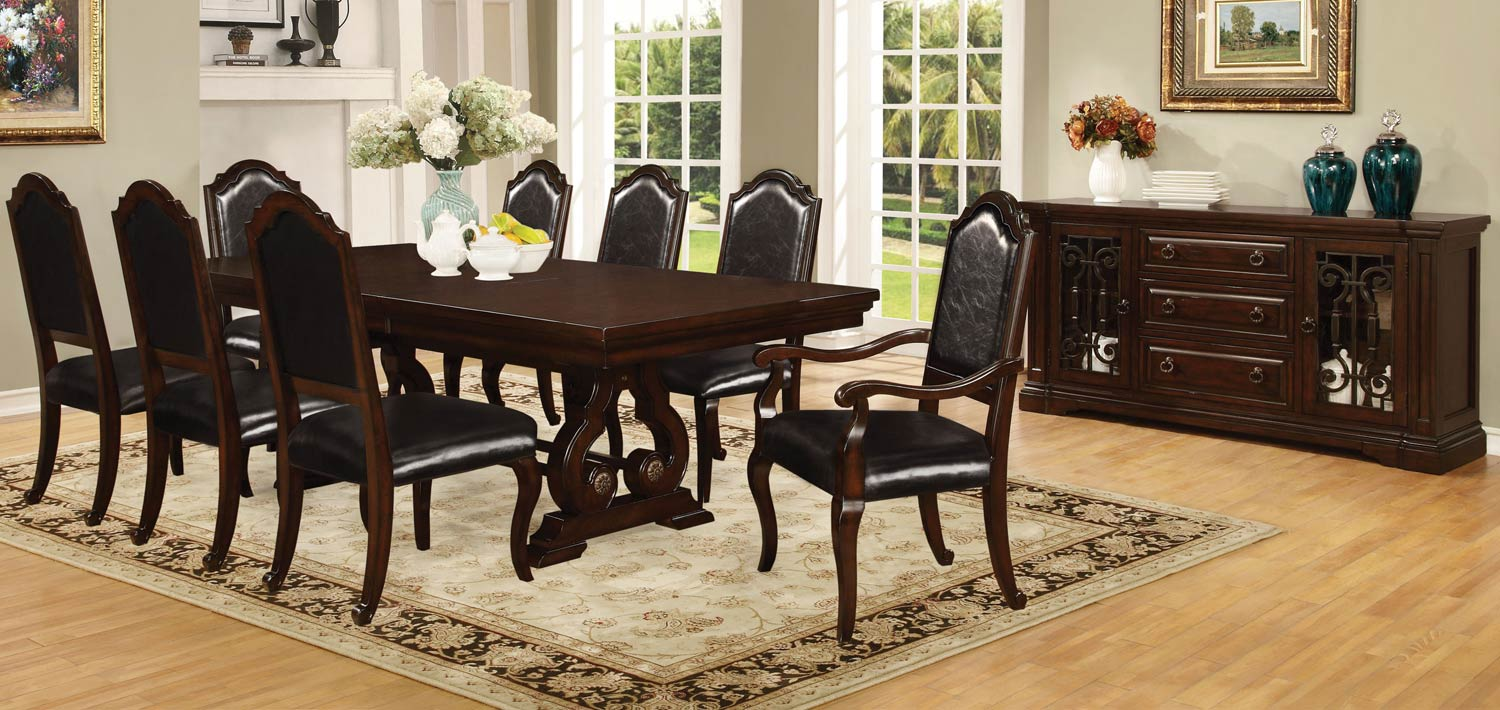 Coaster Bedford Dining Set - Dark Mahogany