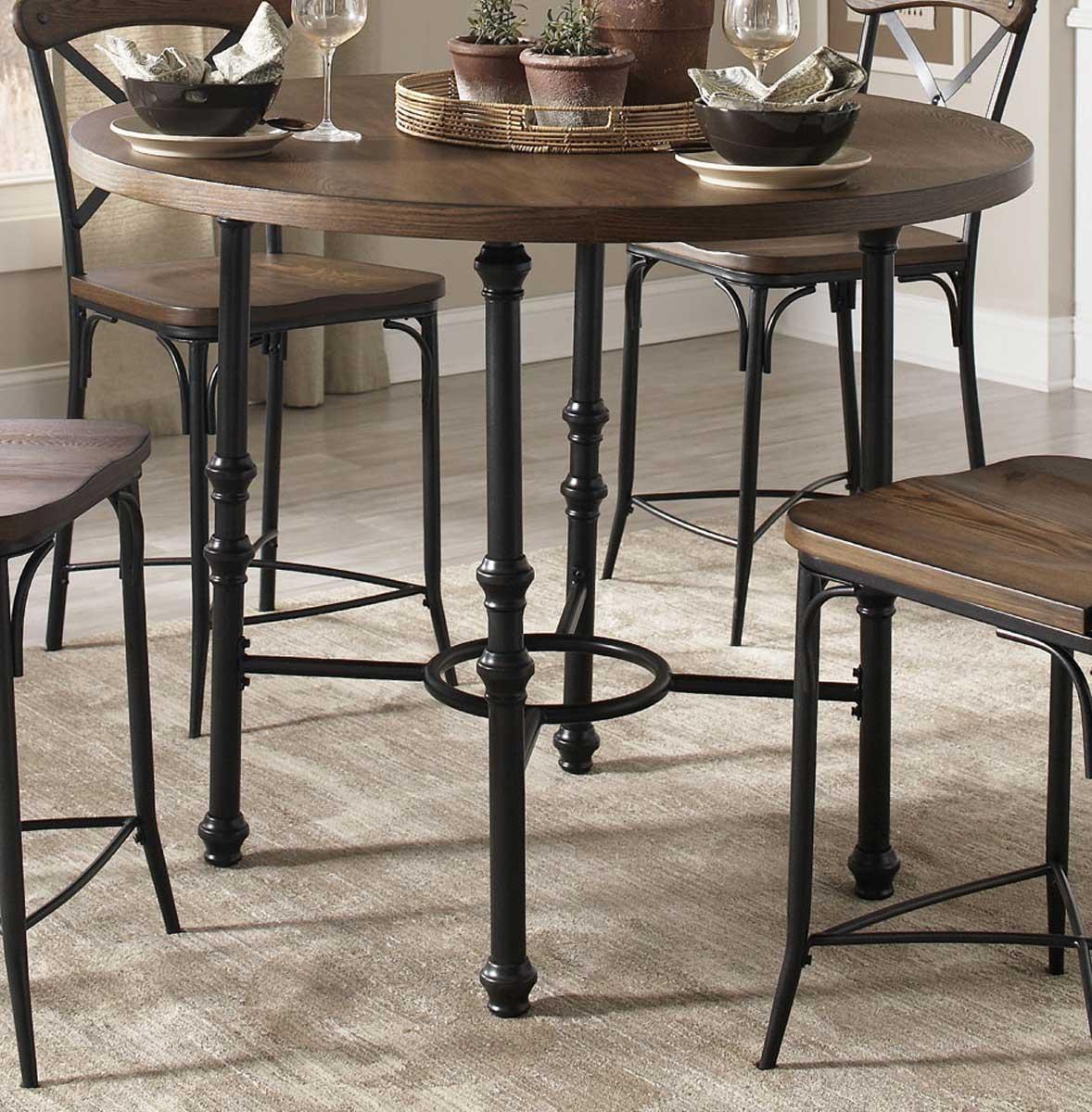 Coaster Monticello Counter Height Dining Set - Vintage Ash/Matte Black ...