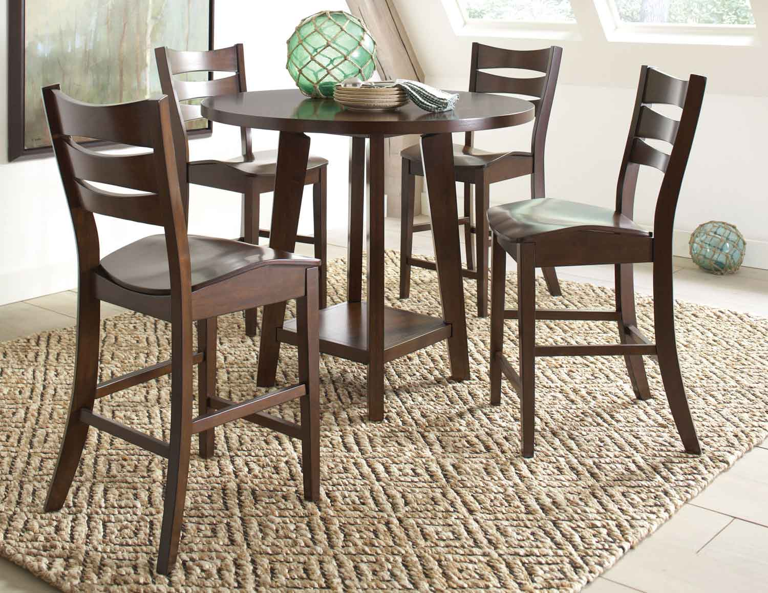 Coaster Byron Counter Height Dining Collection - Dark Brown