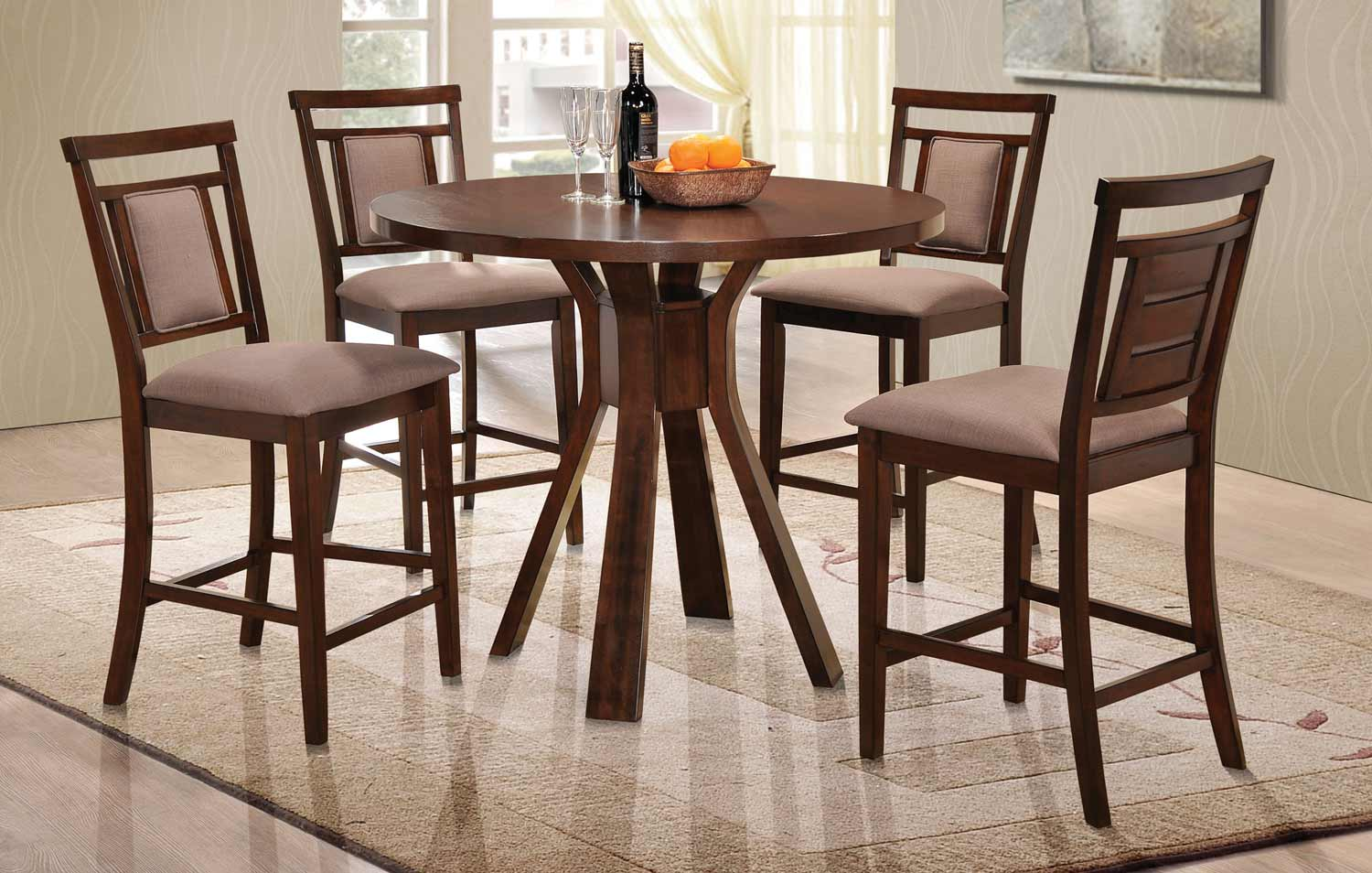 Coaster Colona Counter Height Dining Collection - Dark Brown