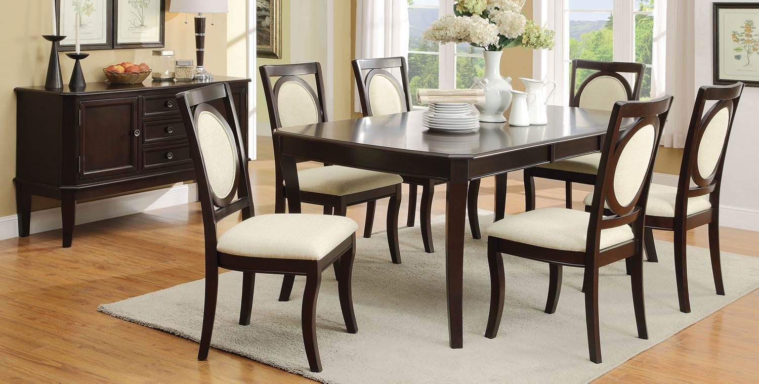 Coaster Crest Hill Dining Collection - Cherry Brown