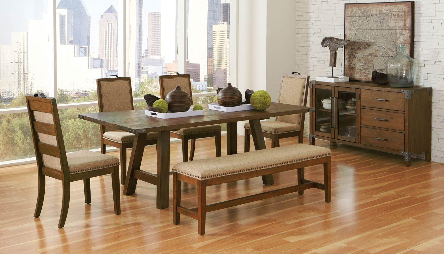 Coaster Arcadia Dining Collection - Weathered Acacia