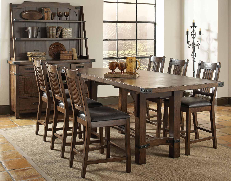Coaster Padima Counter Height Dining Set - Rustic Cognac