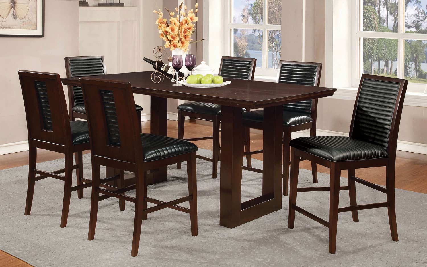 Coaster Chester Counter Height Dining Collection - Bitter Chocolate