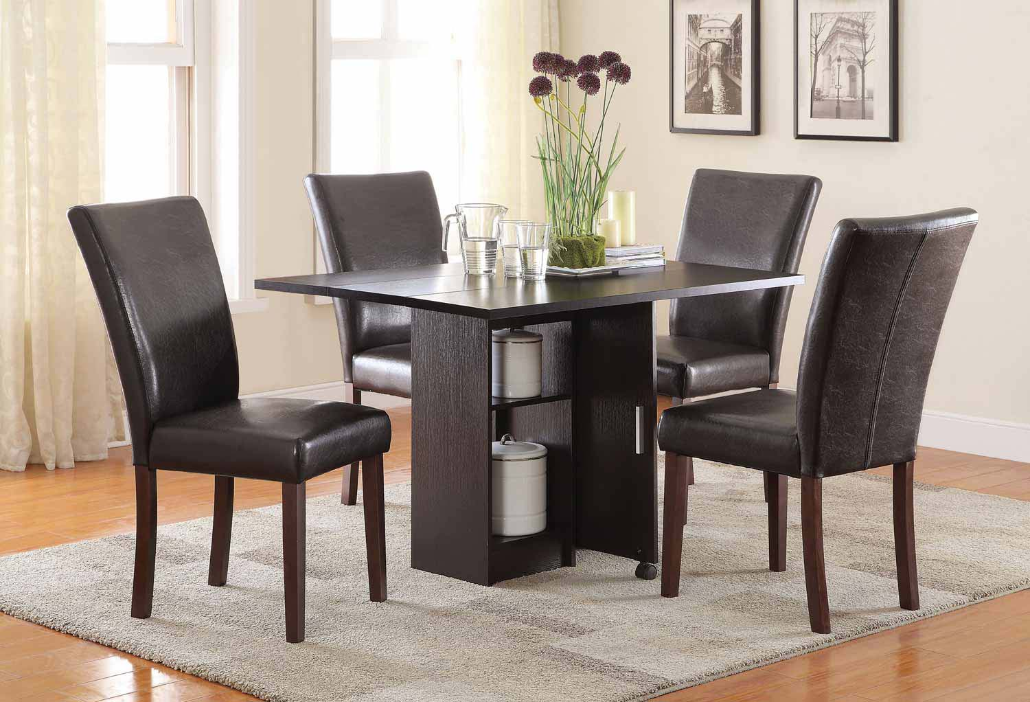 Coaster Vista Dining Set - Red Cocoa