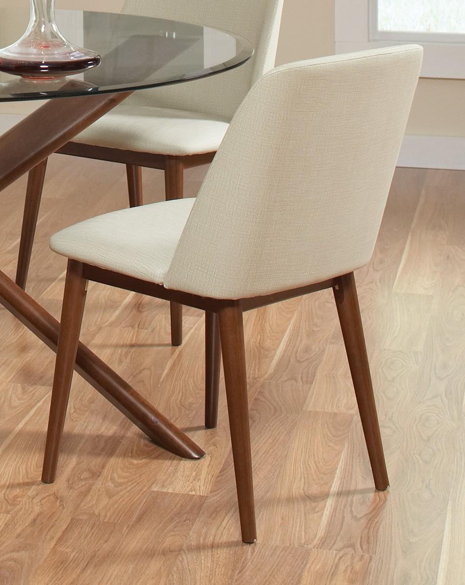Coaster Barett Side Chair - Chestnut/Tan Fabric