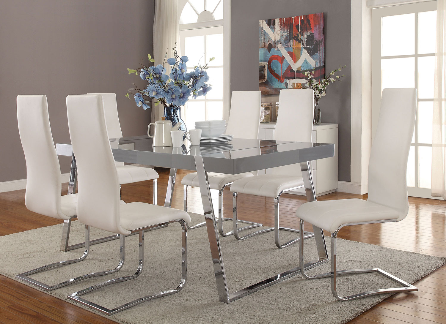 Coaster Giovanni Rectangular Dining Set
