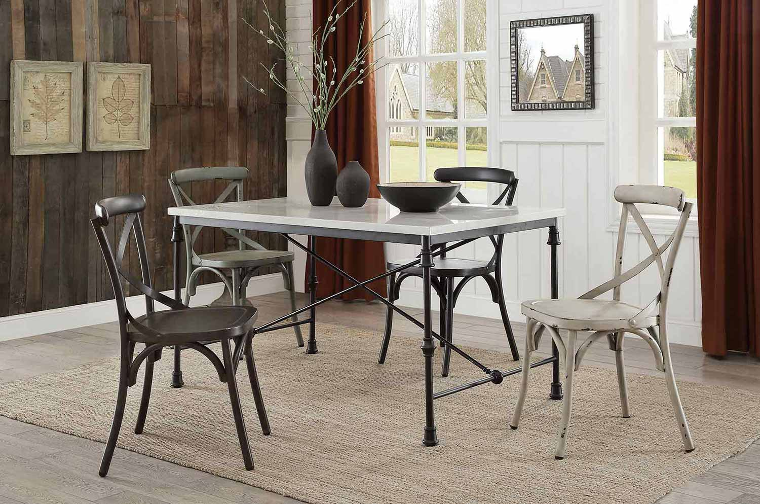 Coaster Nagel Dining Set - Rustic