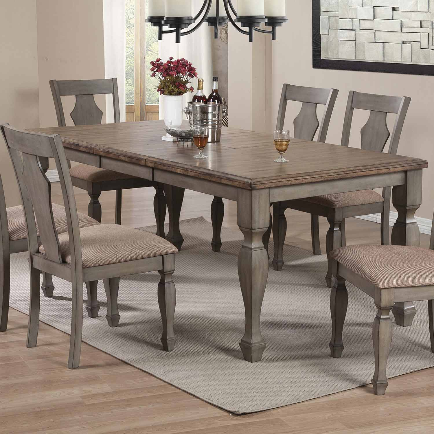 Coaster Riverbend Dining Table Wheat Antique Grey at