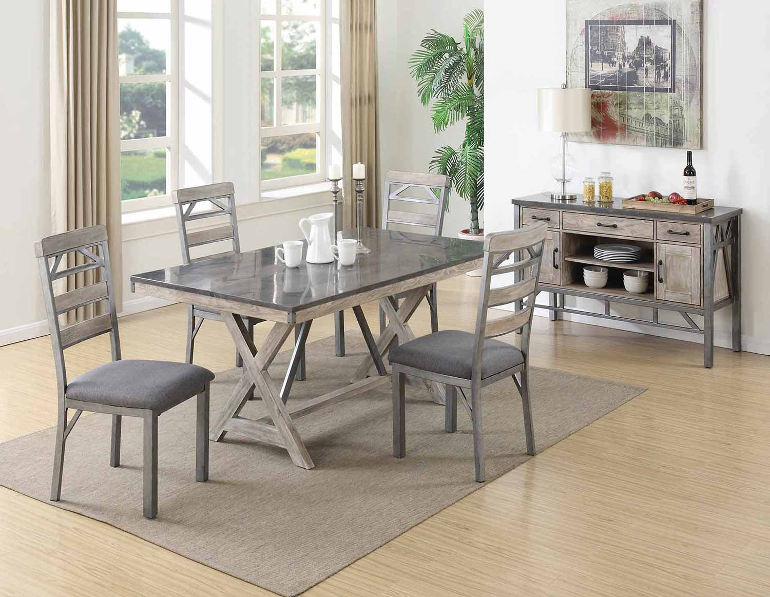 Coaster Melbourne Dining Set - Antique Elm