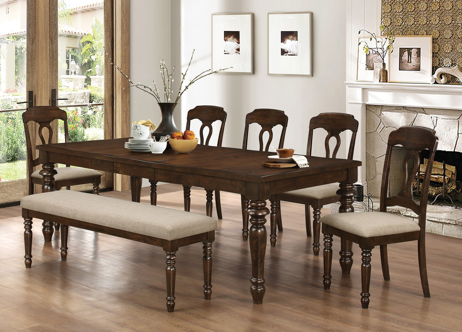 Coaster Hamilton Dining Set - Antique Tobacco