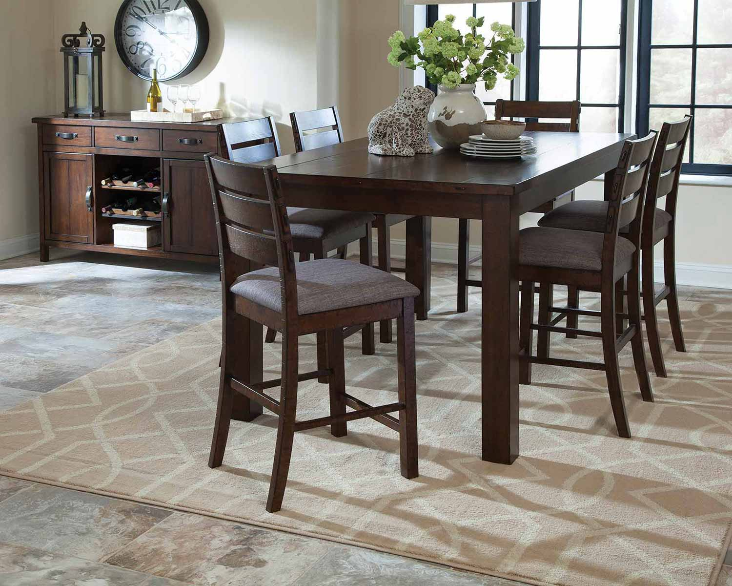 Coaster Wiltshire Counter Height Dining Set - Rustic Pecan