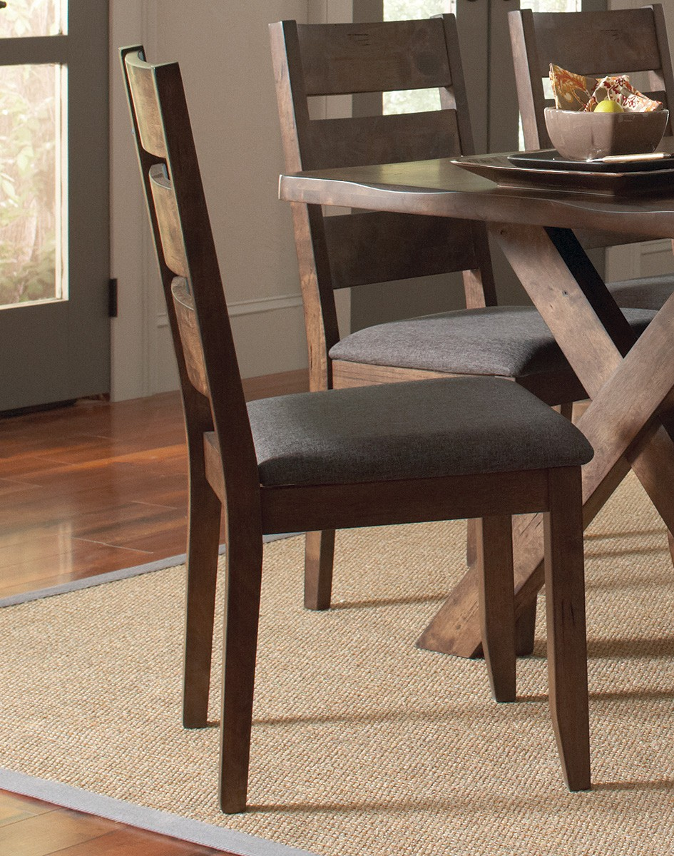 Coaster Alston Side Chair - Knotty Nutmeg/Grey Fabric