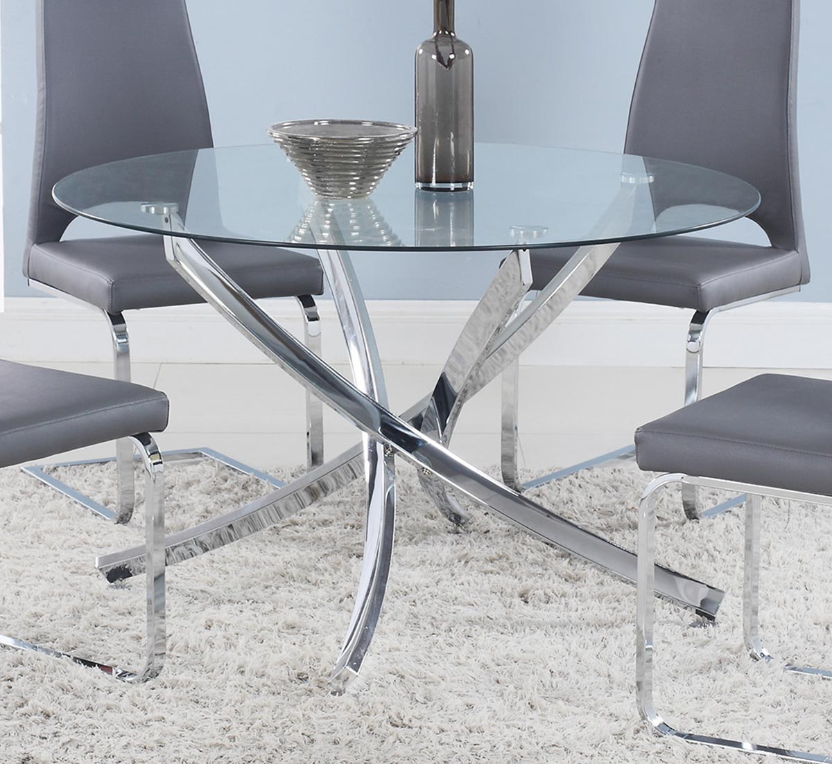 Coaster Cudahy Dining Table - Chrome
