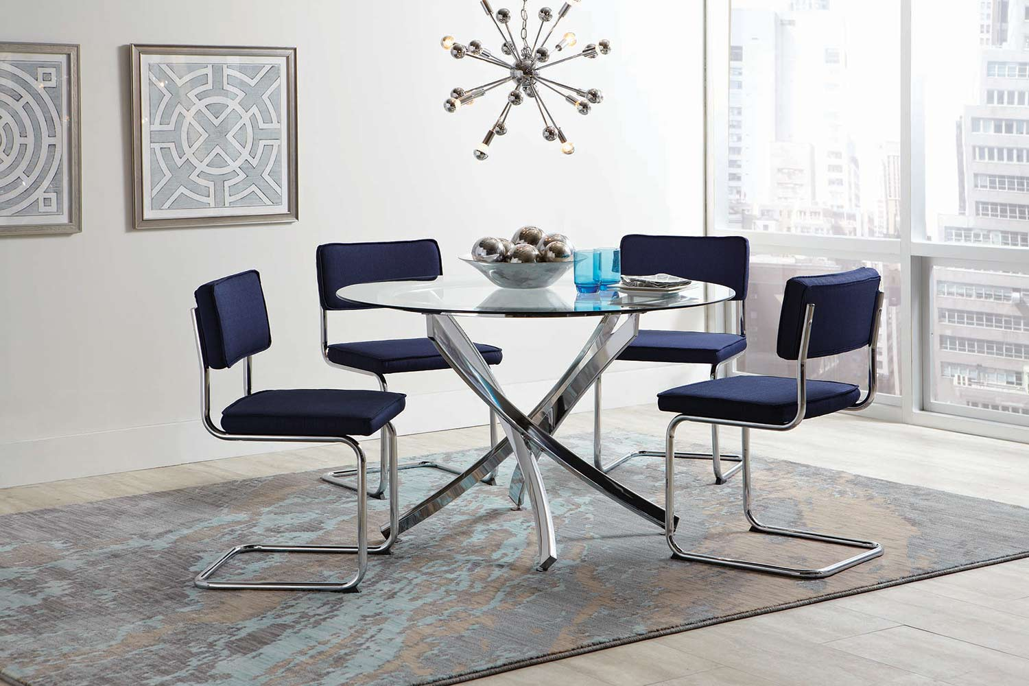 Coaster Walsh Round Dining Set