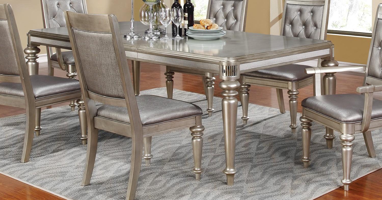 Coaster Danette Dining Table - Metallic Platinum