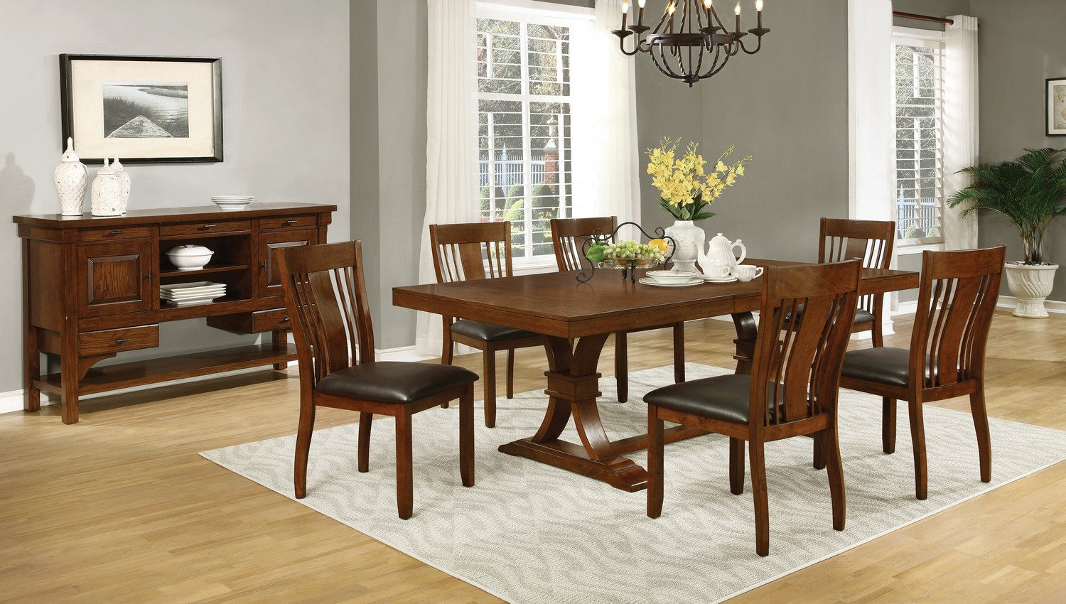 Coaster Abrams Dining Set - Truffle